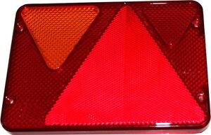 Rücklichtglas Rücklichtabdeckung Glas Rücklicht für PKW-Anhänger Neptun links N