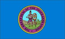 3x5 inch Chickasaw Nation Flag Sticker (Logo American Indian Tribe)