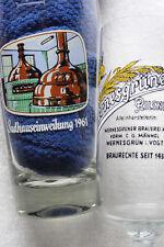 Altes Bierglas  Wernesgrüner Pilsner Sudhauseinweihung 1961  0,3l