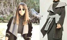 Zara knit mantel grau