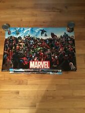 Marvel The Lineup Poster Spiderman Hulk Captain America Ironman Thor Sealed New