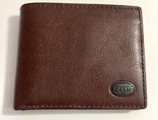 New Fossil Brown Leather Men's Wallet