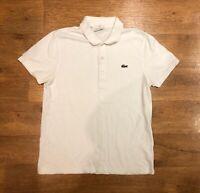"Lacoste Polo Shirt Slim Fit White Size 4 Medium 40"" Chest"