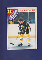 John Wensink 1978-79 O-PEE-CHEE OPC Hockey #133 (EXMT) Boston Bruins