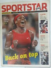 "India Sportstar 2008-11 TENNIS cover issues 10"" X 13"" (5)"