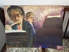 Sam Weissman  Two Jazz Players Original Watercolor Signed by Artist 24 x 20 ""