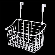Over The Cabinet Drawer Grid Organizer Basket Large Bathroom Iron Storage White