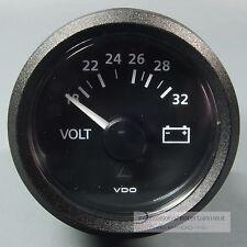 VDO Voltmeter strumento Gauge + LED 24v 52mm New Generation Classic Nero