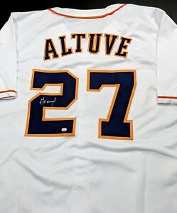Jose Altuve Houston Astros Autographed Signed Jersey XL COA