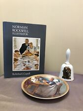 Vintage Norman Rockwell Collector's Plate,Book and Bell All In Great Condition
