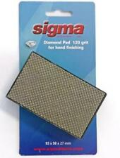 DIAMOND HAND PAD FOR SMOOTHING EDGES 120 GRIT SIGMA 72H1