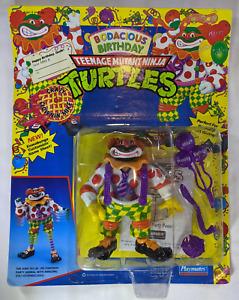 1992 MOC Playmates TMNT Bodacious Birthday Crazy Clownin Mike  Michaelangelo