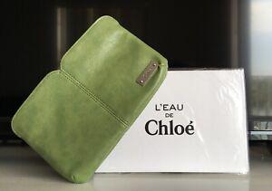 "L'EAU de Chloe Green Makeup Bag - Cosmetic travel pouch/purse - 8""x5"" - NIB"