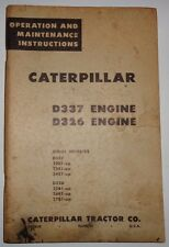 Caterpillar D337 D326 Engine Operators Operation Maintenance Manual 22B1 to 27B1