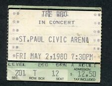 1980 The Who Blackfoot concert ticket stub St. Paul Mn Who Are You U.S. Tour