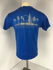 New listing VTG 80s Florida Surf Beach Sailing 2-sided Blue S/S Crewneck T-shirt Sz L