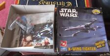 Star Wars X-Wing Fighter model kit NEW UNASSEMBLED AMT with paints