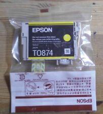 Epson t0874 tinta Yellow para Stylus Photo r1900 c13t08744010 sin OVP D