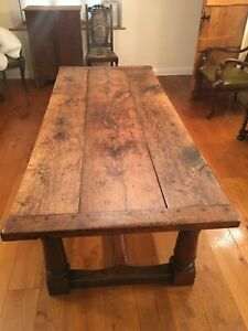 Large Solid Oak Farmhouse Dining Table
