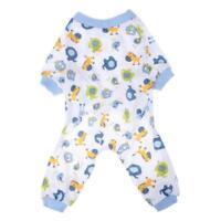 Pet Dog Puppy Pajamas Clothes Cotton Cartoon Jumpsuit Shirt Sleepwear Apparel A