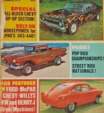 Hot Rodding Nov 1973 Vol 12 No 11 Car Magazine Salvage Scrap Craft Incomplete