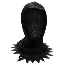 Adult/Teen Black Hidden Face Mask Hood ~ HALLOWEEN SCARY HORROR BLACK MESH MASK
