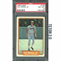 Cal Ripken Jr 1982 Fleer #176 RC Rookie PSA 8 Orioles HOF Hall Of Fame Iron Man