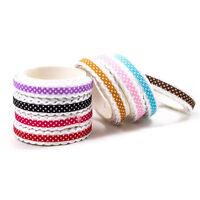 Fabric Lace Roll DIY Washi Decorative Sticky Ribbon Masking Tape Adhesive A1860