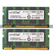 4GB 2x 2GB PC2-5300 DDR2-800 800Mhz 200pin SODIMM Notebook Laptop Memory RAM
