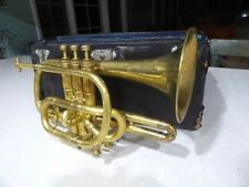 1903 Lyon & Healy Own Make Cornet in case with extras Gold Plated