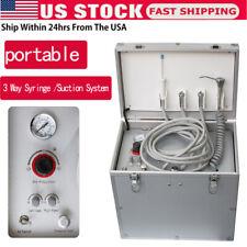 Dental Portable Delivery Unit Syringe Suction System Turbine Unit Compressor U