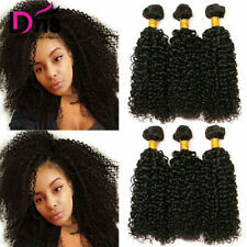 UK-STOCK Natural Color 100% Human Hair Weave Brazilian Kinky Curly Hair Weft 8A