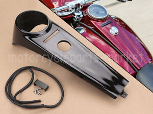 Black Classic Styling Tank Cap Dash Cover For Harley Fatboy Softail FXS FLSTF