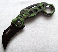 Karambit Speedster grün Taschenmesser pocket knife