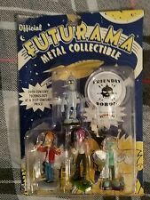 Futurama Bender Fry Leela Professor Farnsworth cast metal figure 4 pk