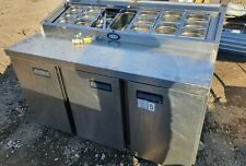 More details for fosterfps1/3hr  stainless steel refrigerated prep counter pizza prep salad,