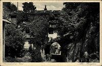 Oberaudorf am Inn Ansichtskarte ~1920/30 Straßenpartie am alten Burgtor Personen