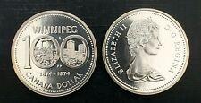 Canada 1974 Winnipeg Centennial Specimen Silver Dollar!!