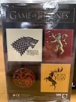 Game Of Thrones House Sigil Magnet Set Stark Lannister Set HBO Loot Crate New