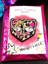 NWT BETSEY JOHNSON MULTI-COLOR LEOPARD CRITTER BROOCH CLIP WITH FUCHSIA GIFT BAG