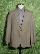 MANCILLAS INTERNATIONAL Sport Coat Gray 100% Pure New Wool 2 Gold Button 44L