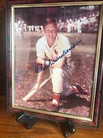 Red Schoendienst Cardinals Signed 8x10 Photo Autograph St. Louis Cardinals HOFer