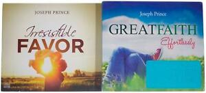 LOT Of 2 JOSEPH PRINCE AUDIO CD SETS Irresistible Favor Great Faith Effortlessly