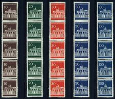 Germany . 1966-70 Brandenburg Gate Coils (952-956) . Mint Never Hinged