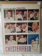 "1957 Frank Sinatra, ""CHESTERFIELD"" Magazine Ad (Scarce / Vintage)"