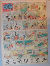 Mickey Mouse Sunday Page by Walt Disney from 8/11/1940 Tabloid Page Size