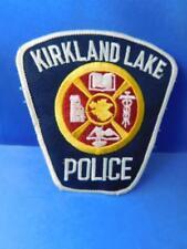 KIRKLAND LAKE POLICE OFFICER HAT SHOULDER PATCH VINTAGE ONTARIO CREST CANADA