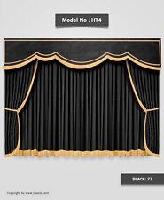 Saaria Stage Curtain Theater Velvet Drapery 12'W x 8'H Handmade Embroidery