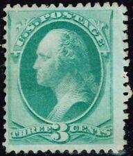 "US Sc# 136 *UNUSED H* { ""GRILLED"" 3c WASHINGTON } NICE 1870 NATIONAL BANKNOTE"