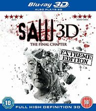 Saw 3D: The Final Chapter (3D + 2D Blu-ray, 2 Discs, Region Free) *NEW/SEALED*